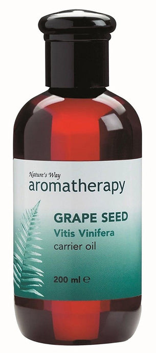 Natures Way Aromatherapy GRAPE SEED Carrier Oil 200ml Quickly Absorbed CODE: NWA0180