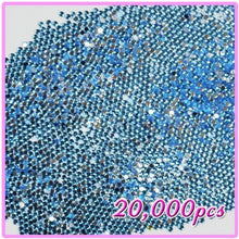 20,000pcs 2mm PRO Rhinestones Crystals Round Beads For Acrylic Nails Gel Nail Art Tips Decoration - Light Blue 11 CODE: #406K