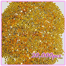 20,000pcs 2mm PRO Rhinestones Crystals Round Beads For Acrylic Nails Gel Nail Art Tips Decoration Gold Yellow 05 CODE: #406E