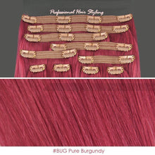 BF Deluxe 20 inch Clip in 100% Remy Human Hair Extension 150g Double Weft #BUG Pure Burgundy CODE: #1813