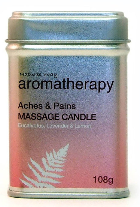 Natures Way Aromatherapy Massage Candle For ACHES and PAINS 108g CODE: NWA1000