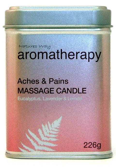 Natures Way Aromatherapy Massage Candle For ACHES and PAINS 226g CODE: NWA1005