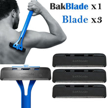 1x Bakblade with 3 Back Hair Remover Shaver Set for Mens Easy to Use Razor CODE: Bak-Blade-01