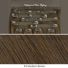 BF Double Weft 200g Deluxe Full Head 20 inch Clip in 100% Remy Human Hair Extensions #4 Medium Brown CODE: #1909
