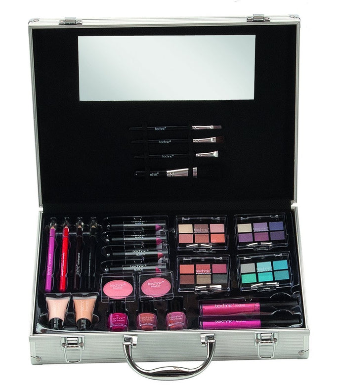 Technic X - Large Attaché Train Case Make-up Set