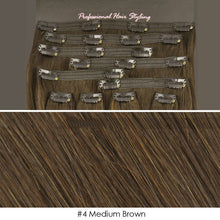 Deluxe 20 inch Clip in 100% Remy Human Hair Extension 150g Double Weft #4 Medium Brown CODE: #1809
