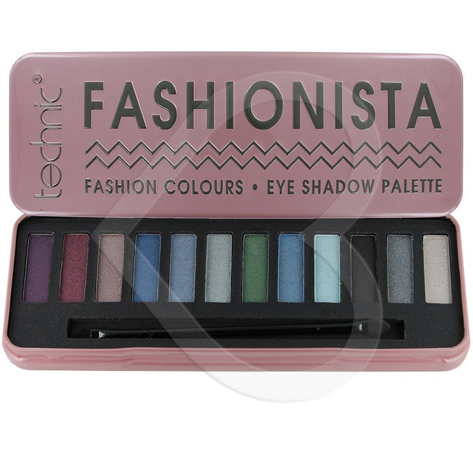 Technic Fashionista Nude Colours Eye Shadow Palette - 12-Piece