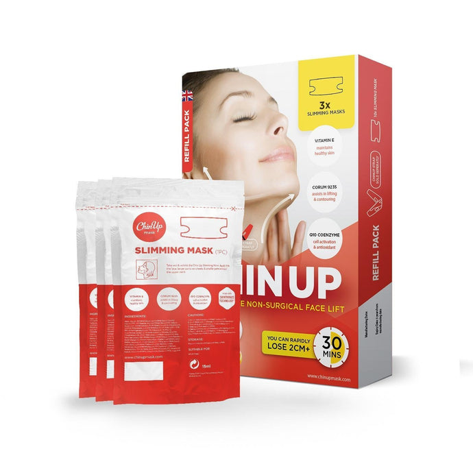 Chin Up Mask 3 x Refills - lose 2cm+ of chin fat in 30 mins