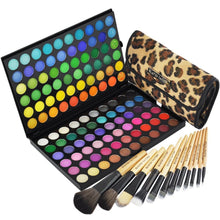 BF New Professional 120 Color Eyeshadow Palette Cosmetic Makeup #1 Essentials & 12 x Makeup Brush Set African Leopard #89A_177L
