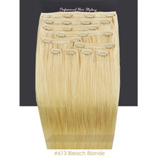BF Double Weft 200g Deluxe Full Head 20 inch Clip in 100% Remy Human Hair Extensions #613 Bleach Blonde CODE: #1903