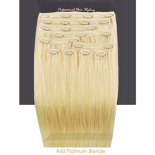 BF Double Weft 200g Deluxe Full Head 20 inch Clip in 100% Remy Human Hair Extensions #60 Platinum Blonde CODE: #1918
