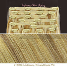 BF Deluxe 20 inch Clip in 100% Remy Human Hair Extension 150g Double Weft #18/613 Ash Blonde/ Cream Blonde Mix CODE: #1815
