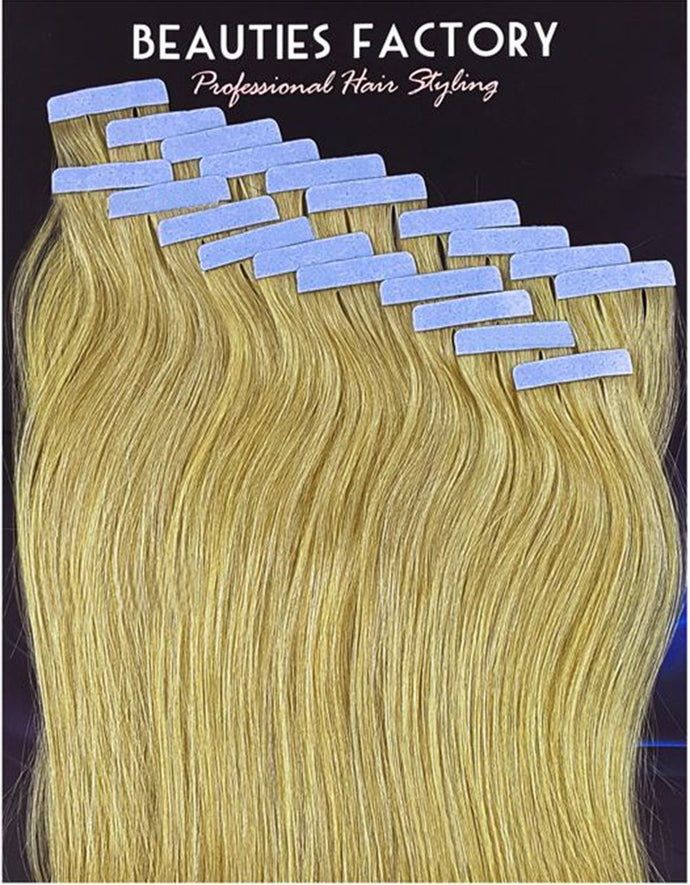 Tape In Skin Weft 100% Remy Human Hair Extensions Women Fashion Style Hair515MIX