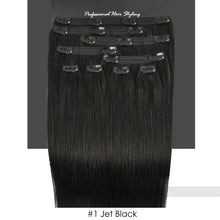 BF Professional 20 inch Clip in 100% Remy Human Hair Extension 100 gram #1 Jet Black CODE: #1721