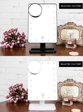 Beauties Factory Portable 20 LED Lighted Makeup Mirror Vanity W/ 10X Magnifier White