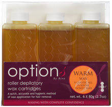 Hive Options Classic Warm Honey Wax Roller Depilatory Wax Cartridges 80g - Pack of 6