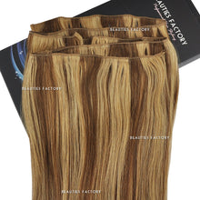 "BF New Authentic Full Head Remy Human Hair Extension Long Weft Non Clip-in 20 "" #6/27 Golden Brown/Butterscotch Hair406"