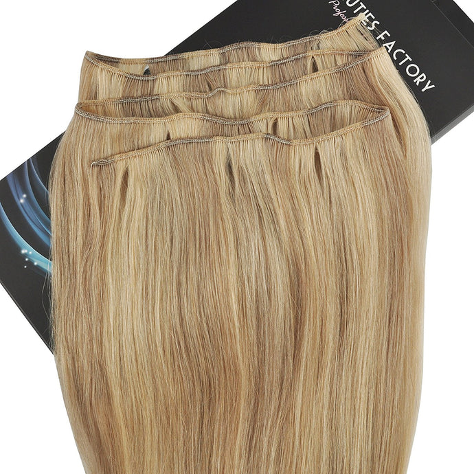 BF New Professional Full Head Remy Human Hair Extension Long Weft Non Clip-in 20