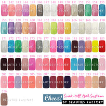 """Shimmer Lovers "" Series Cheez! Soak-off Color UV Gel Polish x6 + Free Gift"