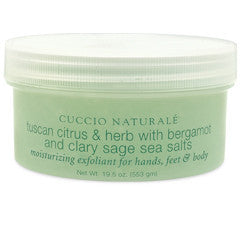 Cuccio Naturale Tuscan Citrus & Herb Sea Salts 19.5oz