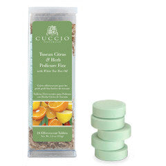Cuccio Naturale Tuscan Citrus & Herb Pedicure Fizz 24ct.
