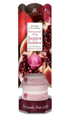 Cuccio Naturale Pomegranate & Fig Butter Baby 1.5oz 6 Piece Tower
