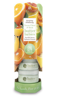 Cuccio Naturale Tuscan Citrus & Herb Butter Baby 1.5oz 6 Piece Tower