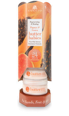 Cuccio Naturale Papaya & Guava Butter Baby 1.5oz 6 Piece Tower