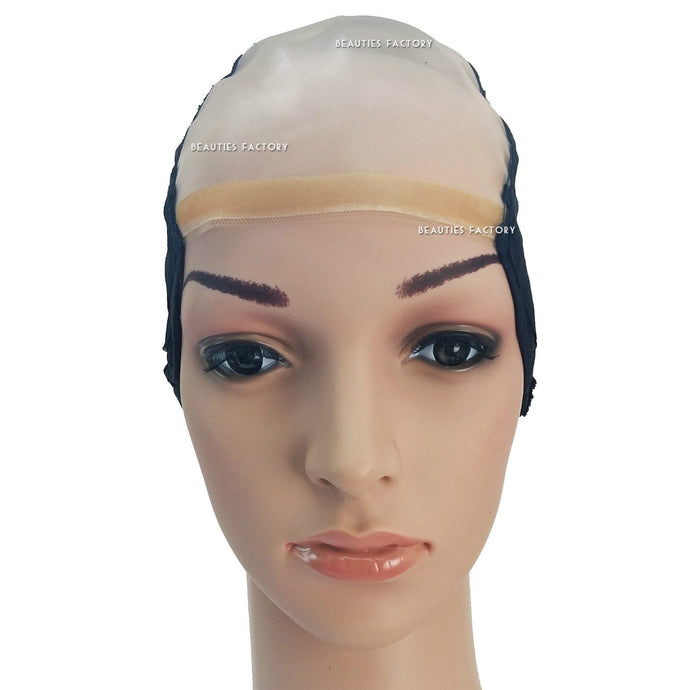 DIY Wide Gap Middle Center U Part Weaving Wig Cap Net Mesh Adjustable Strap