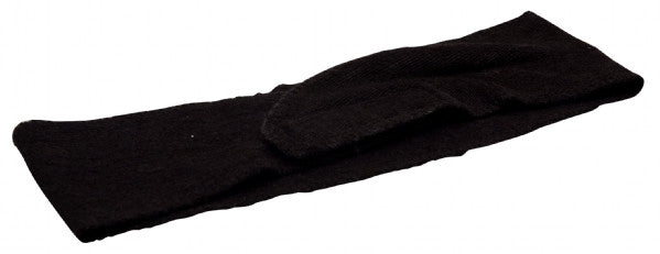 Velcro Fixing Towelling Headband - Black