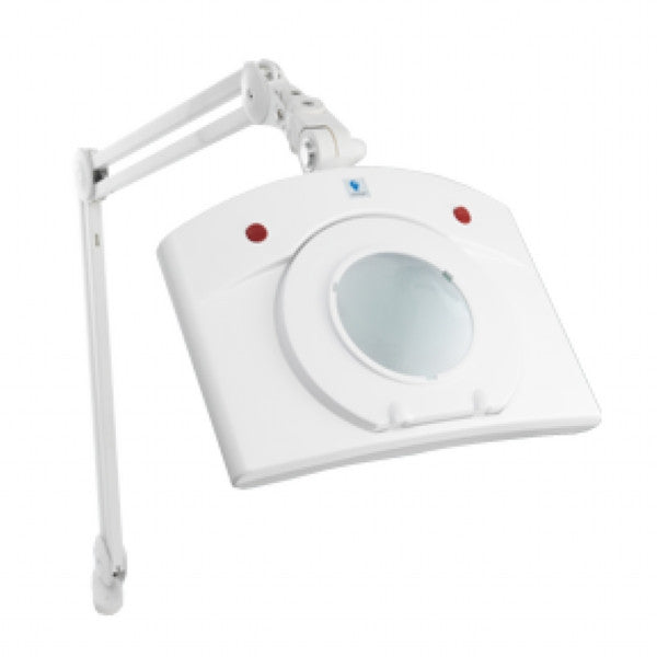 Deluxe Fluorescent Magnifying 13W Lamp - White (H:37.5 inches)