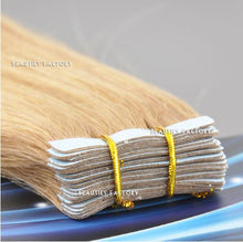 Tape in Skin Weft 100% Remy Human Hair Extensions #18/613 S.MIX Ash Blonde/ Cream Blonde