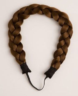 Halo Braided Headband in Light Brown