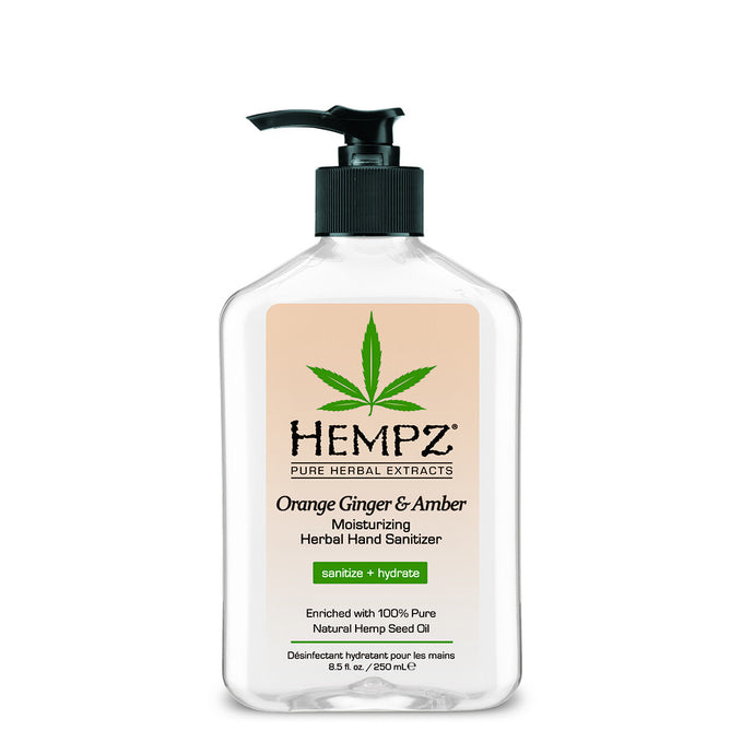 Hempz Orange Ginger & Amber Moisturising Hand Sanitiser Bottle