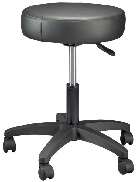 Gas Lift Beauty Stool - Black (Height Adjustable: 19-24 inches)