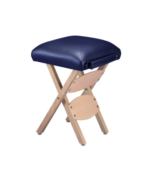 Folding Portable Wooden Stool - Navy (H: 20 inches)
