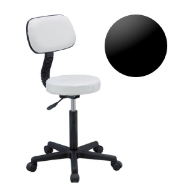 Gas Lift Beauty Chair - Black (Height Adjustable: 19-24 inches)
