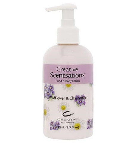 CND CreativeSpa Hand & Body Scentsations Lotion - Wildflower & Chamomile 8.3floz