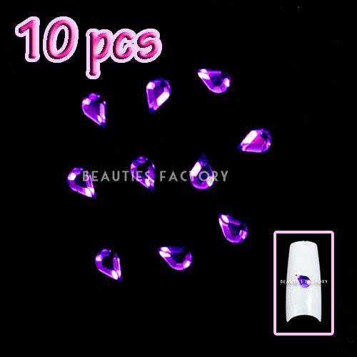 Tear-Drop decoration-VIOLET x 10pcs