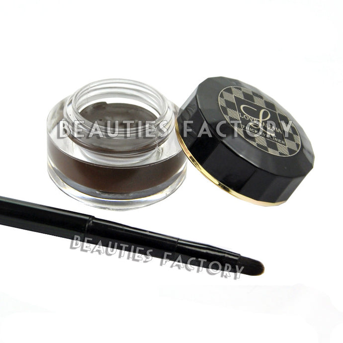 Creamy Eyeliner (BROWN) with Brush - Waterproof