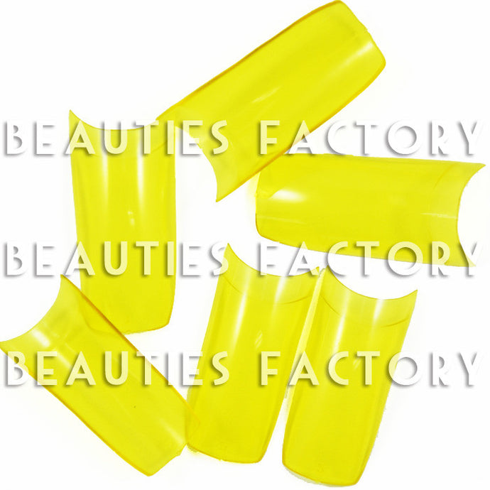 Transparent Yellow - French False Nail Tips (Grade A) x 500pcs