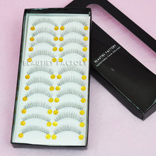 10 Pairs Handmade Eyelashes with transparent strip - BF-21