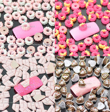 """Love Donut"" Nail Art Decoration x 100pcs"