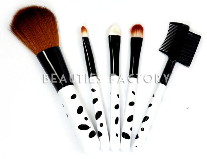 Leopard Design - Makeup Brush x 5pcs