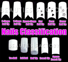 Chrome French Nail Tips x 100pcs - ROCK & ROLL (#S08Nails)