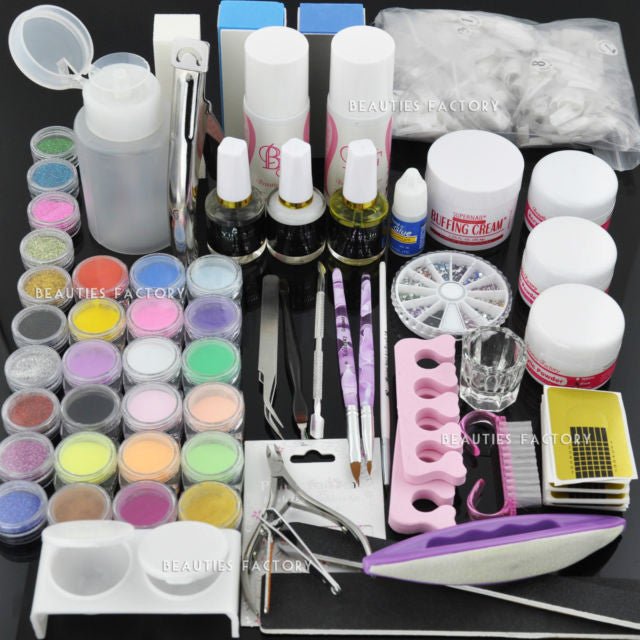 Acrylic Powder / Liquid Pump Dispenser / Acrlylic Nail Art Tips Manicure Kit