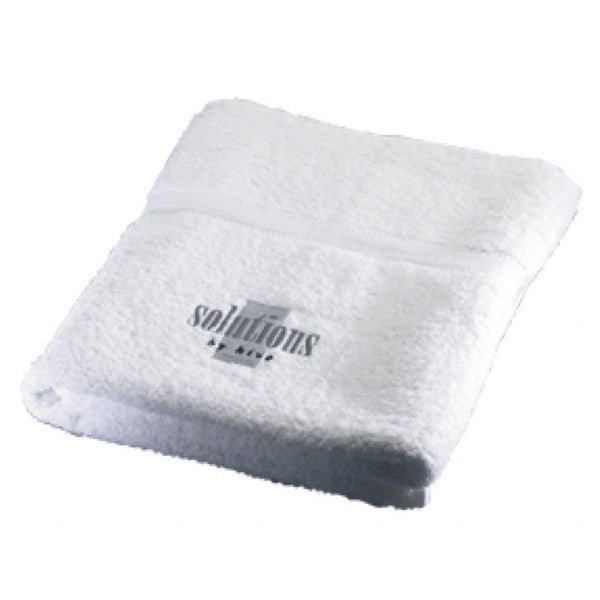 Sauna Towel - White (Embroidered Solutions logo)