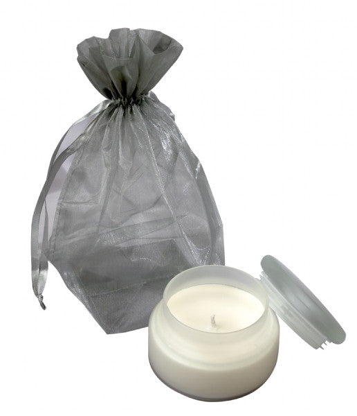 Natural Silk Candle/Frosted Glass Jar 260g