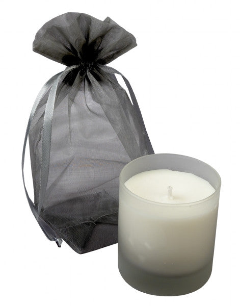 Natural Silk Candle/Frosted Glass Tumbler 170g