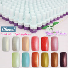 """Ultra Shimmer"" Series Cheez! Soak-off Color UV Gel Polish x12 + Free Gift"